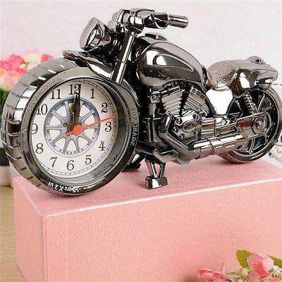 Motorcycle Motorbike Alarm Clock Creative Home Birthday Gift Cool Clock SU #%