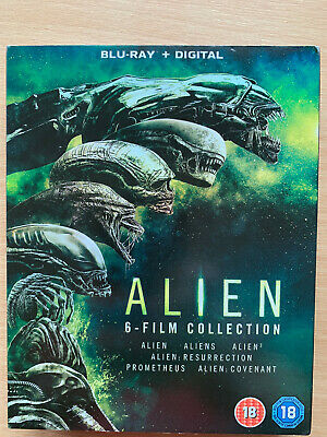 Alien Blu-Ray Coffret 1979 Original - 2017 Covenant ~ 6 Film W/Housse