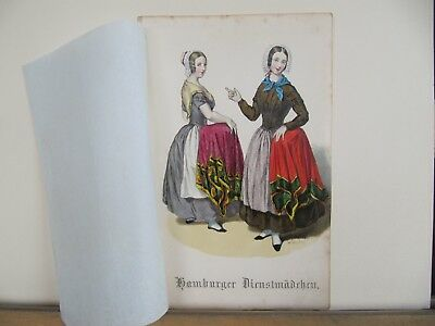 Trachten Costumes Hamburg Lot of 34 farblithographie by H.Jessen