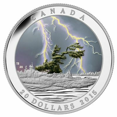 2015 CANADA $20 Weather Phenomenon Summer Storm 1oz .9999 silver coin No COA