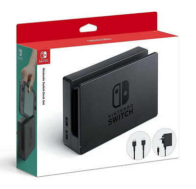 Genuine Nintendo Switch Charging Dock Set With AC Wall Power Adapter HDMI Cable