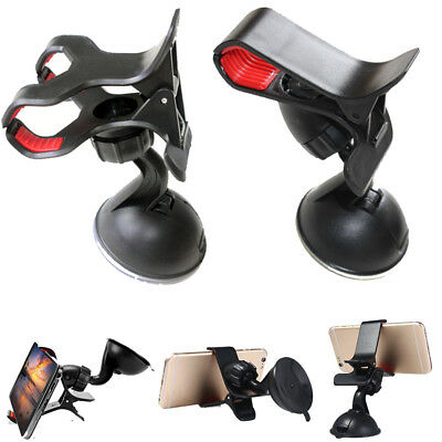Dashboard Clip Plastic Suction cup Car Phone Holder Windshield Stand Mount
