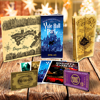 Harry Potter Cartes - Diagon Alley, Marauder's & Yule Ball Invitation + Billets