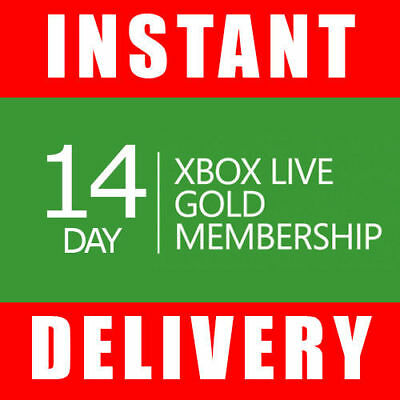 Xbox Live 14 Day Gold Trial Membership Code (2 Weeks) - Instant Dispatch 24/7