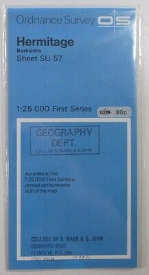 1972 old OS Ordnance Survey 1:25000 First Series prov map SU 57 Hermitage