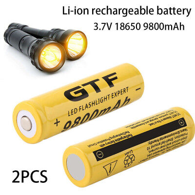 7BF2 F4CE 7FCE High Capacity 18650 Battery 9800mAh Cell Battery Torch Power Bank
