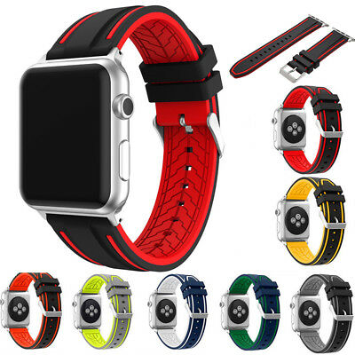 Sports Strap For Apple Watch Band iWatch 4/3/2 42/44mm Gel Wrist Bracelet Band