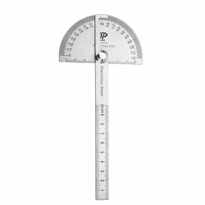 180 Degree Angle Ruler Stainless Steel Protractor Measuring Finder Rotary Tool