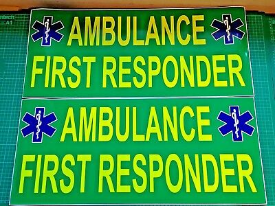 Ambulance First Responder MAGNET Emergency Community 999 Rescue Magnets 700mm x2