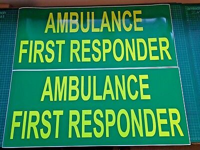 Ambulance First Responder MAGNET Emergency Community Rescue 999 Magnets 700mm x2