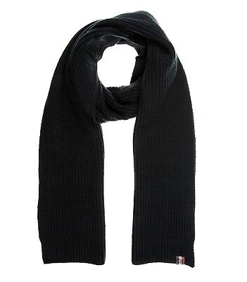 fc659f2257a8 TOMMY HILFIGER Isaac Herren Men Winter Schal Strickschal Scarf Dunkelblau  Warm