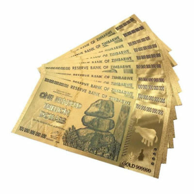 Zimbabwe 100-Trillion Dollar Banknote World Currency Bill Paper Money Collection