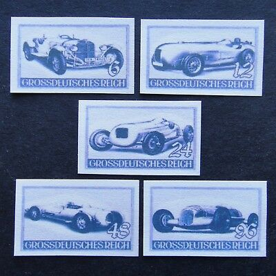 Germany Nazi 1939 Stamps MINT Racing cars WWII Third Reich German