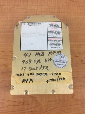 """Miniscribe 3650 Hard Drive 5.25"""" 40MB  USED (Not tested)"""