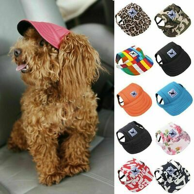 Dog Baseball Cap Outdoor Pet Sun Hat  Winter Canvas Visor Puppy Size S-XL