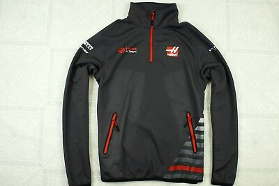 Authentic HAAS F1 Racing Official Half zip Big Pocket Good Condition size M