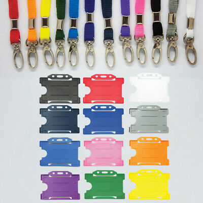 Safety Neck Strap Lanyard (Lobster Clip) & ID Card Holder - Free Same-day P&P