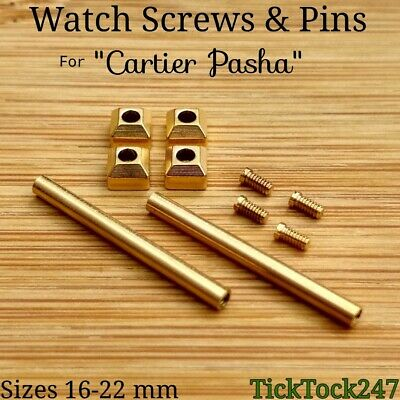 Gold Plated Watch screws tubes for CARTIER PASHA pin strap bracelet lug pin