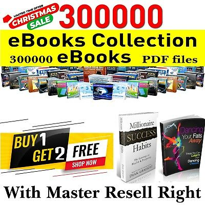 300000+ eBooks Packages Bye 1 Get 2 Free Pdf Format With Master Resell Rights