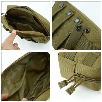 Tactical Molle Pouch Large Capacity Zipper Bag Outdoor Backpack LO