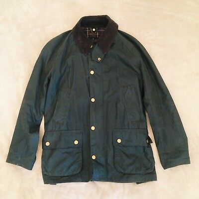 Barbour Ashby Waxed Cotton Jacket Olive Green Men's Small