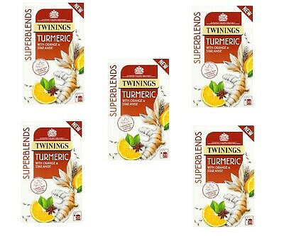 Twinings Superblends Turmeric with Orange & Star Anise 5x20 Tea Bags