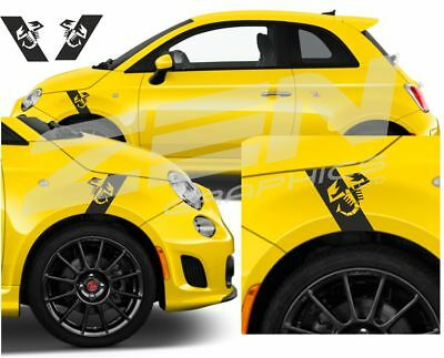 Fiat 500 / 595 / 695 Abarth Scorpion wing fender Decals / Stickers