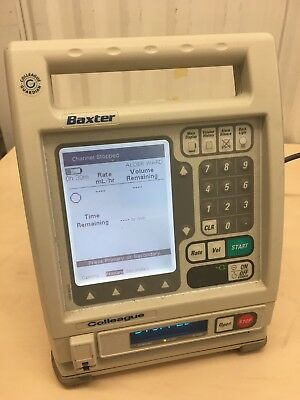 Baxter Colleague Infusion Pump - Powers up — as pictured