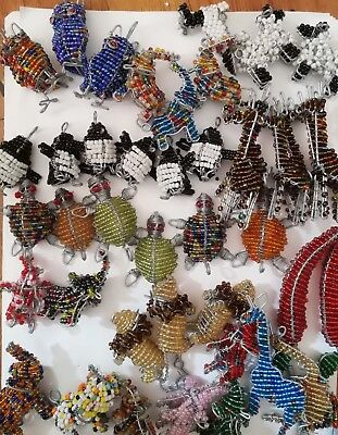 Hand Beaded Animals Key Chains