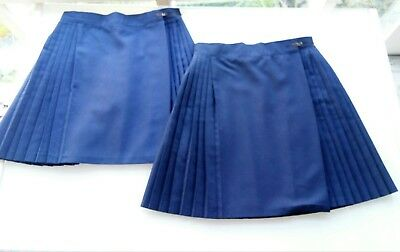 Girls Sports Uniform Skirts, Size 12 NAVY BLUE (2 peices).