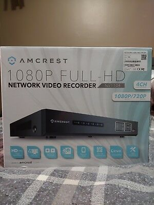 Home Security Systems Amcrest NV1104 1080p NVR Network Video Recorder Supports