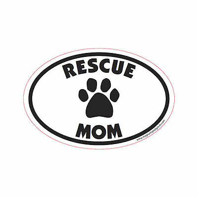 Rescue Mom Oval Euro Style Car Dog Magnet