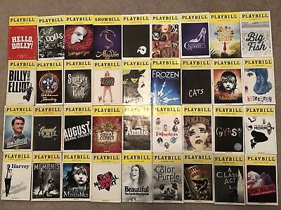 Random Bundle Of 10 Mystery Playbills
