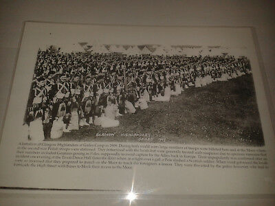 "GAILES CAMP - GLASGOW HIGHLANDERS - IRVINE AYRSHIRE LAMINATED IMAGE 12"" x 8 1/2"""
