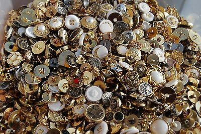 Shiny Buttons Mixed Sizes & Weights - Bags of Assorted Buttons - Embellishments