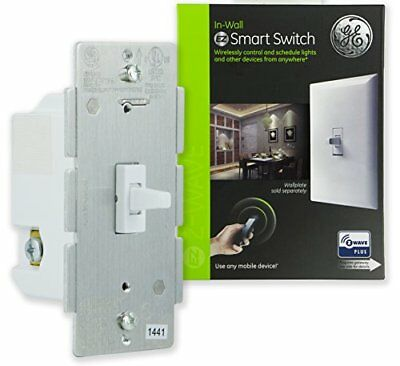 GE Z-Wave Plus Smart Lighting Control Light Switch, Toggle Style, On/Off, White