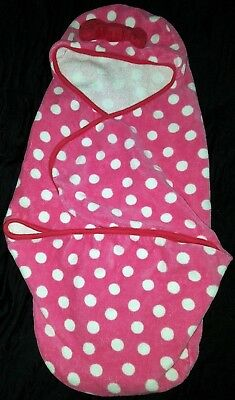 DISNEY BABY MINNIE MOUSE swaddle bath TOWEL wrap 0-6 MONTHS, pool, beach, tub