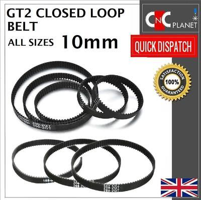 GT2 2mm Pitch 10mm Width Closed Loop Synchronous Timing Belt for GT2 10mm Pulley