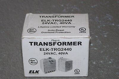 Elk TRG2440 24VAC, 40 VA AC Transformer with PTC Fuse