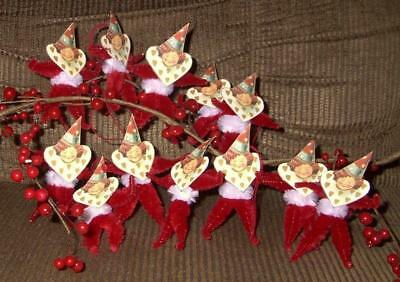 Vintage Looking Valentine Girl Ornaments--Free Shipping!!!