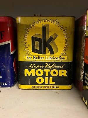 OK motor oil can 2 gallon