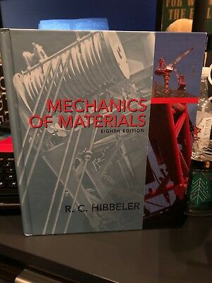 MECHANICS OF MATERIALS (8TH EDITION) By Russell C. Hibbeler - Hardcover