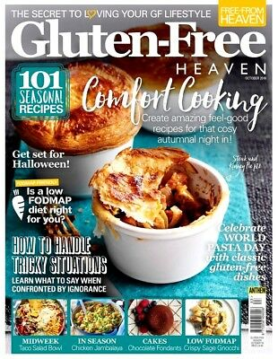 Gluten Free Heaven Magazine October 2018 With Free Choccy Chum Surprise ~ New ~