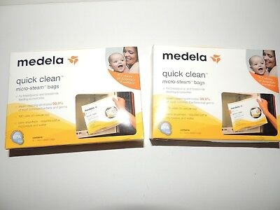Medela Quick Clean Micro-Steam Bags #87024 2 boxes of 5- 10 total- NEW