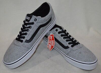 aa87db072cb Vans Men s Ward Textile Gray White Canvas Skate Shoes - Assorted Sizes NWB