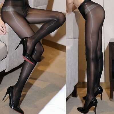 Sexy Tights Women Plus Size Seamless High Rise Glossy Oil Shiny Pantyhose