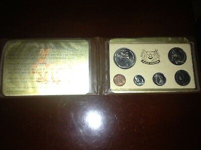 Vtg. Singapore Year Of The Rabbit1975 / Commissioners Of Currency 6 Unc Coins,
