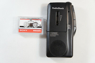 Radio Shack Micro-21 14-1148 2 Speed Microcassette Recorder
