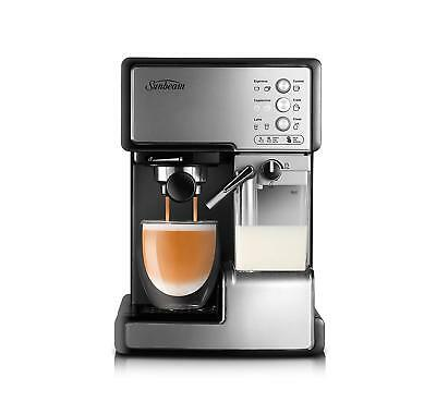 Sunbeam EM5000 Cafe Barista Coffee Machine with Milk Frother Stainless Steel