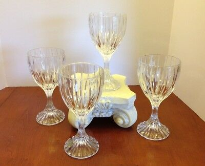 "Set of 4 - MIKASA Park Lane Water Goblets Full Lead Crystal NIB 6.75"" SN101"